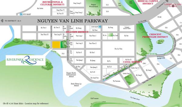 Vị Trí Riverpark Residence